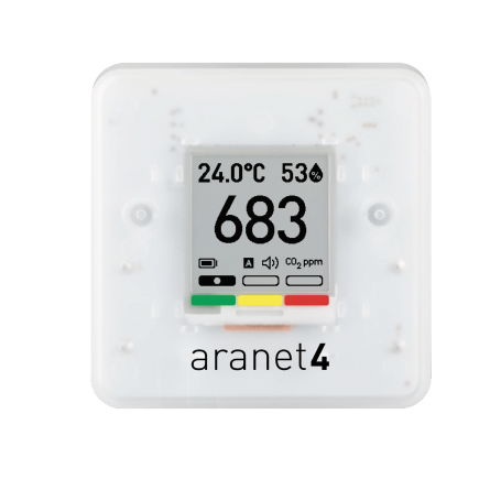 Monitoring CO2, temperature, relative humidity and atmospheric pressure : Aranet4 Pro